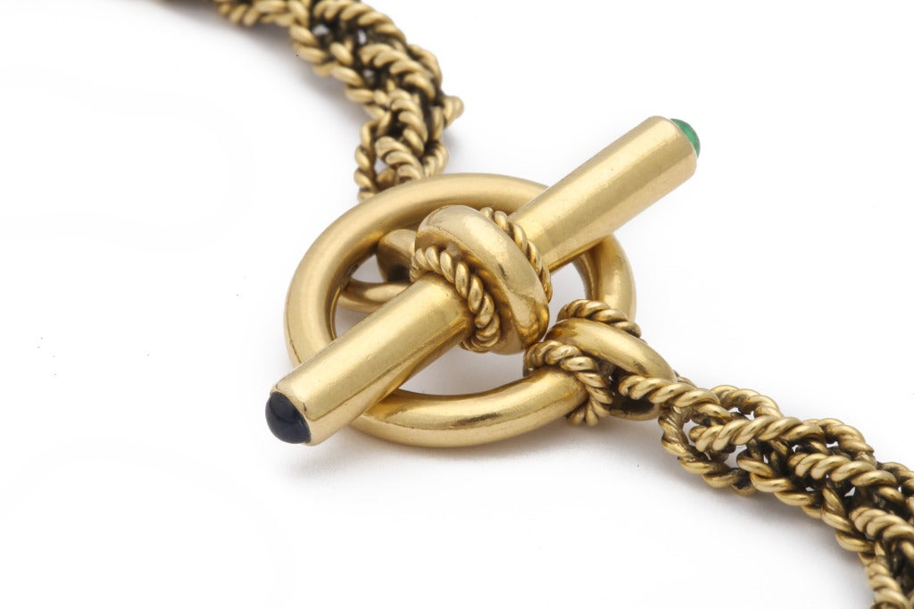 Women's Yellow Gold Necklace For Sale
