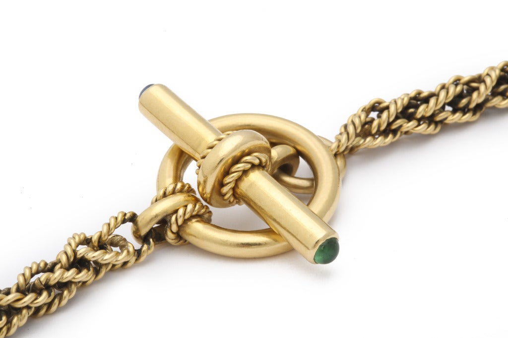 Yellow Gold Necklace For Sale 1