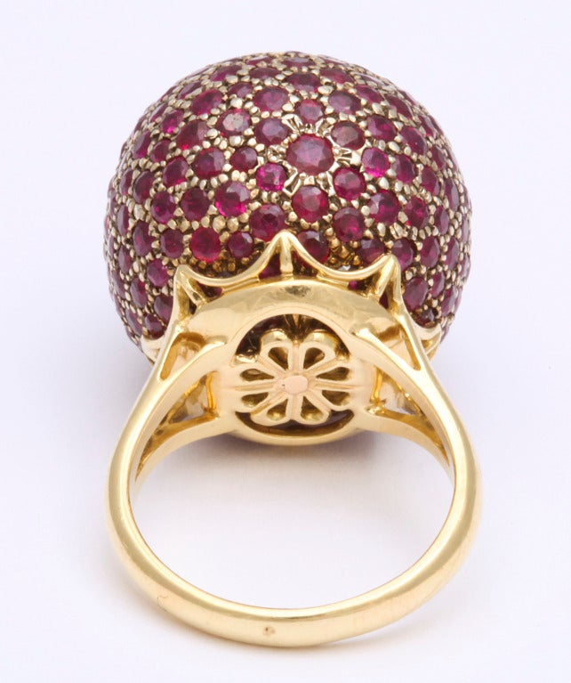 Huge Ruby Ball Ring For Sale 1