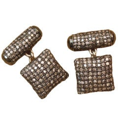 Cutting Edge & Chic Diamond Cufflinks, Michael Kanners