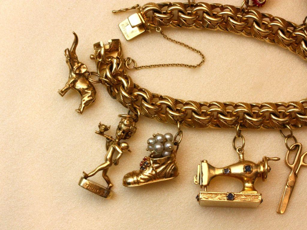 Wonderfully Rare Vintage Charm Bracelet For Sale 2