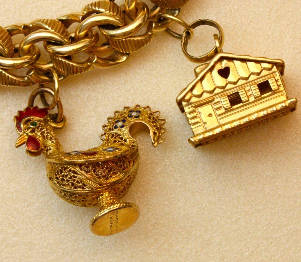 Wonderfully Rare Vintage Charm Bracelet For Sale 3