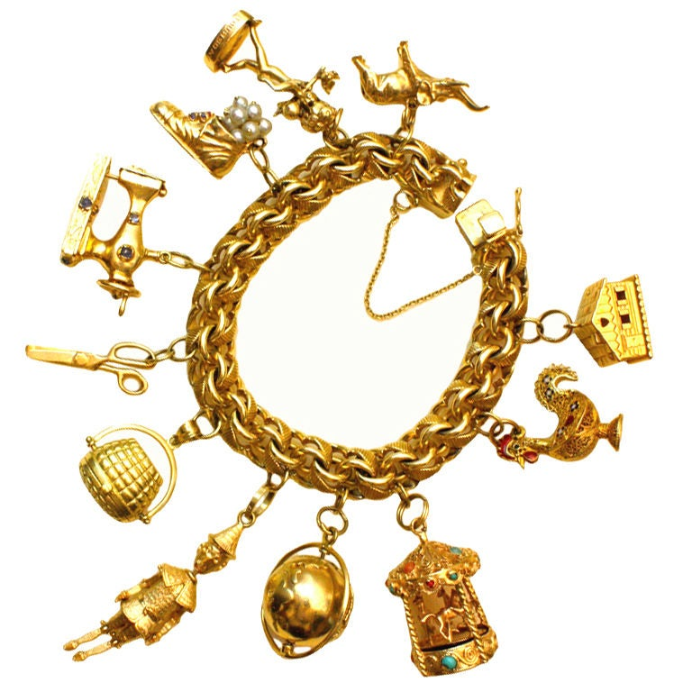 Wonderfully Rare Vintage Charm Bracelet