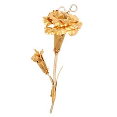 Buccellati Dramatic Two-Color Gold Flower Brooch