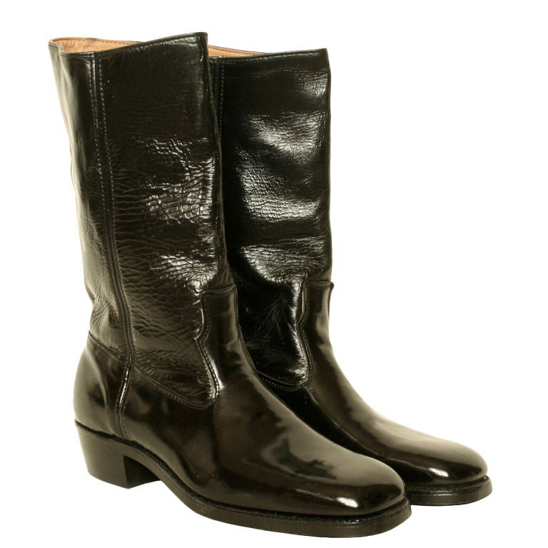 1960s s leather motorcycle boots mint unworn at 1stdibs