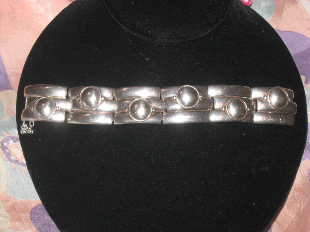 William Spratling Sterling Bracelet In Excellent Condition For Sale In Water Mill, NY