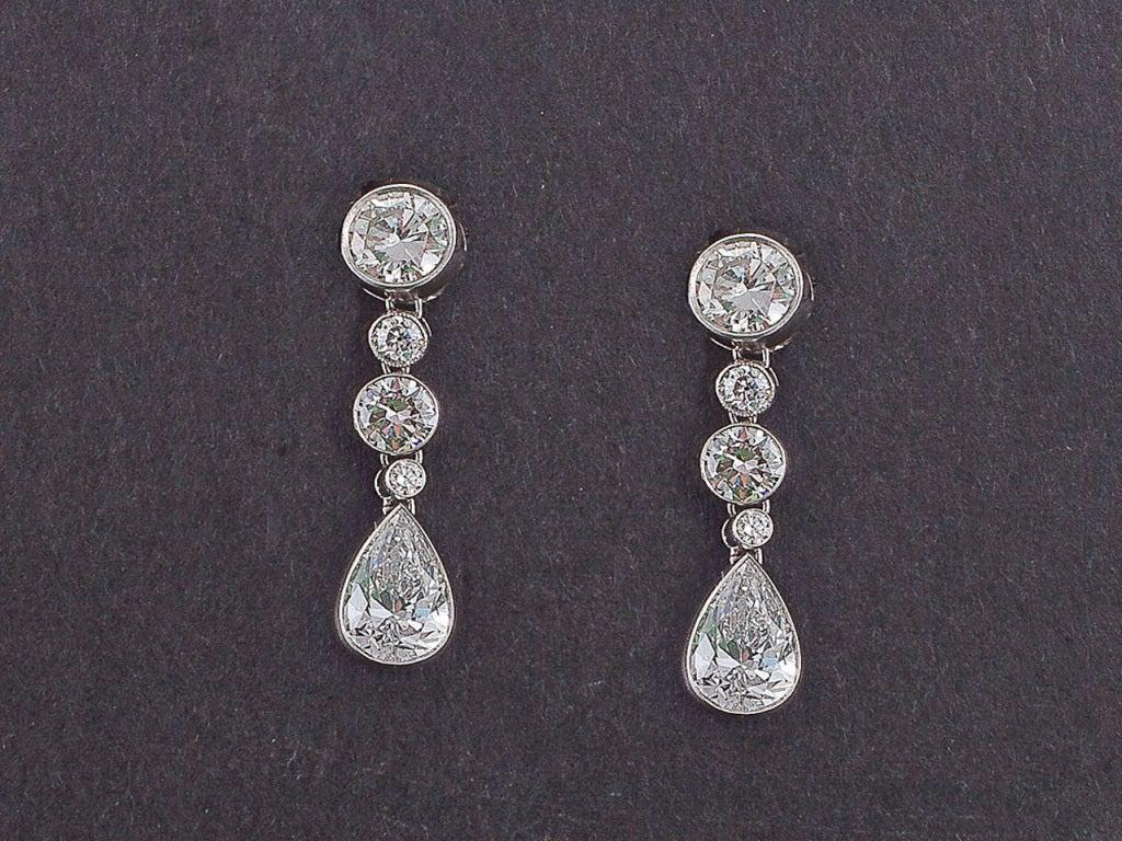 Diamond Platinum Earrings 2