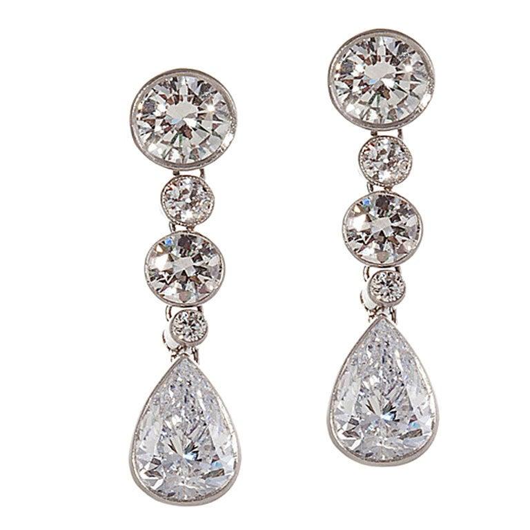 Diamond Platinum Earrings 1