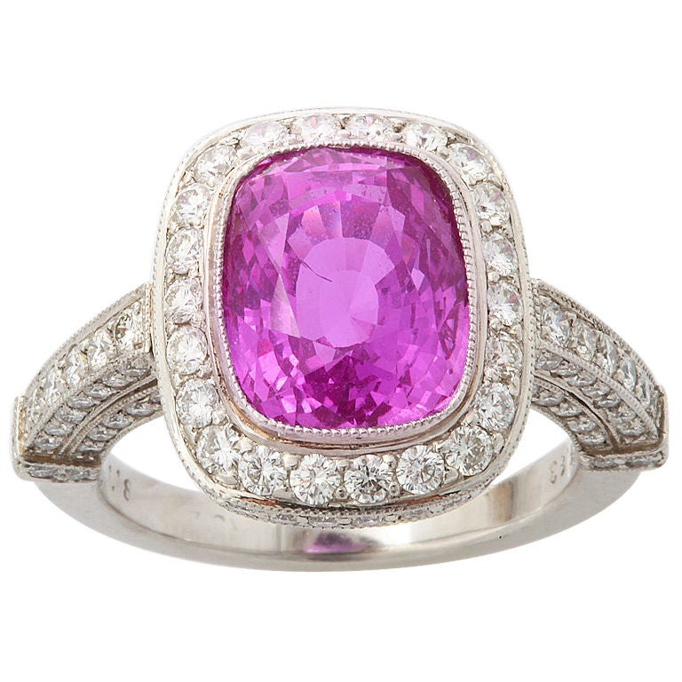 Natural Pink Sapphire Ring At 1stdibs