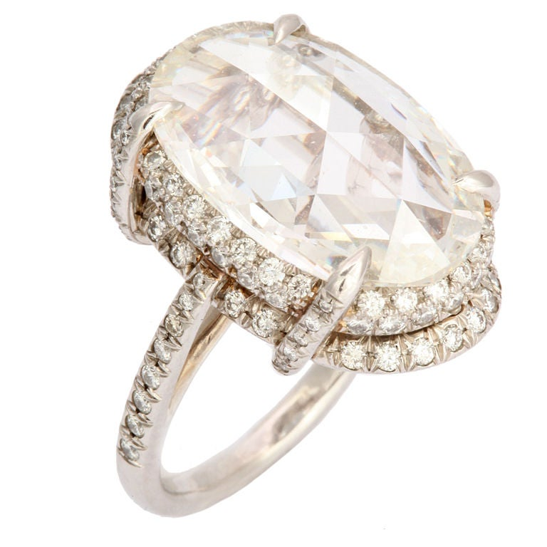 Oval Rose Cut Diamond Ring At 1stdibs