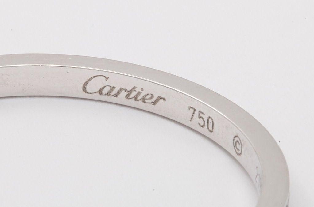 Women's CARTIER New York Diamond Hoop Earrings For Sale