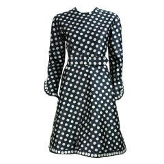 1960's Geoffrey Beene Polka-Dotted Cocktail Dress