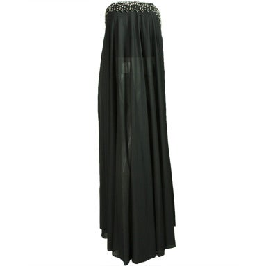 1970's Black Pucci Gown with Rhinestone Accents