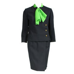 1960's Irene Navy Gabardine Suit