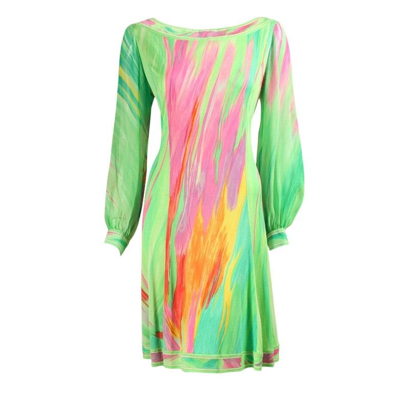 1980's Leonard Silk Jersey Dress