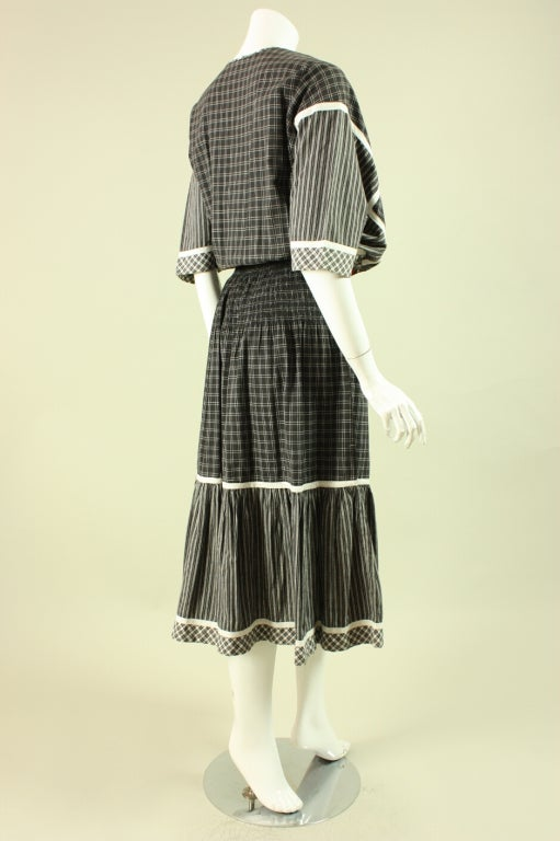 1980's Koos Van Den Akker Cotton Patchwork Dress 3