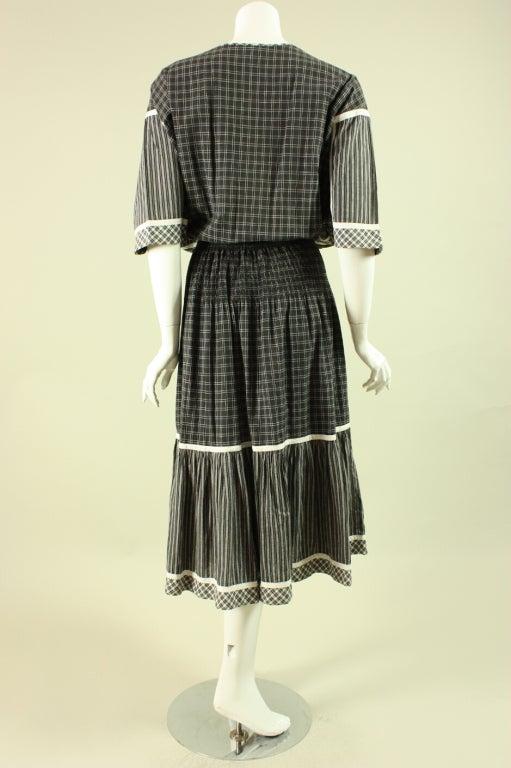 1980's Koos Van Den Akker Cotton Patchwork Dress 4