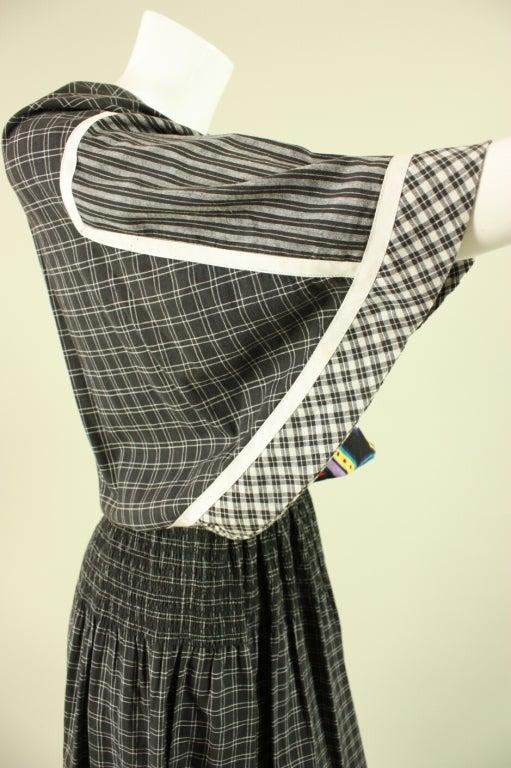 1980's Koos Van Den Akker Cotton Patchwork Dress 6