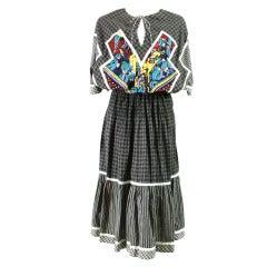1980's Koos Van Den Akker Cotton Patchwork Dress