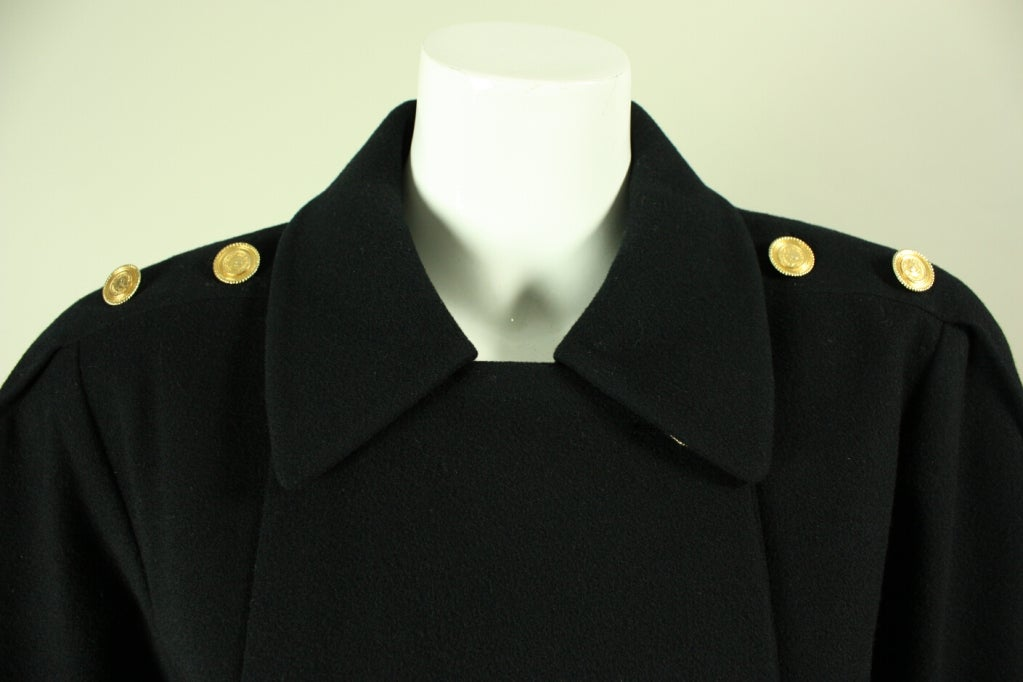Chanel Military-Style Double-Breasted Wool Pea Coat 5