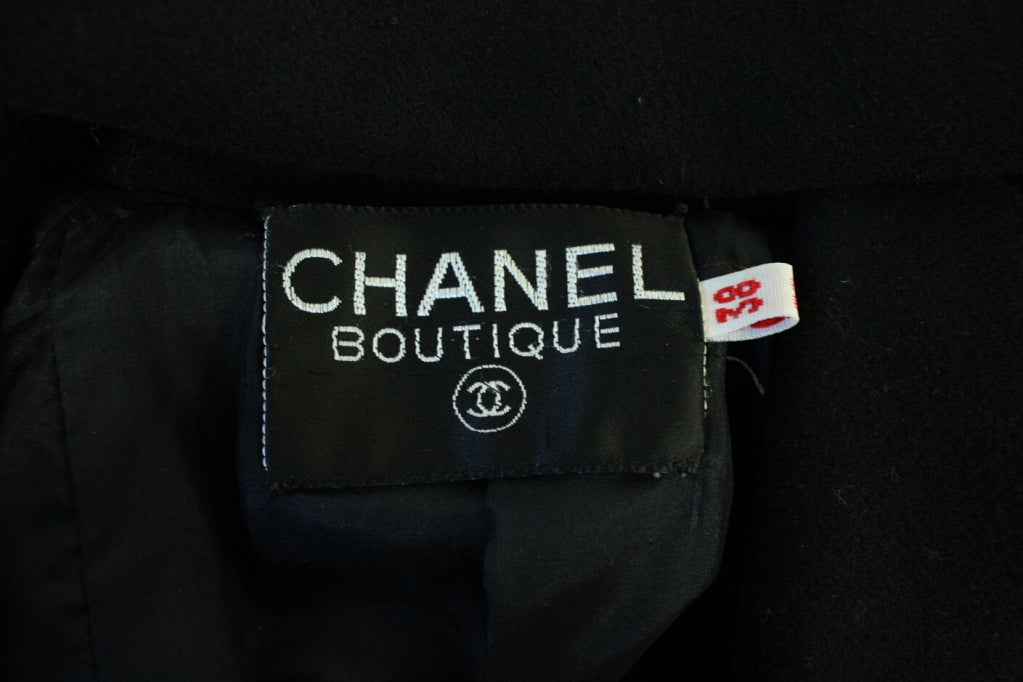 Chanel Military-Style Double-Breasted Wool Pea Coat 7