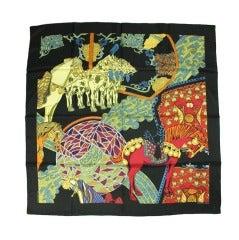 Equestrian Hermes Silk Scarf: Art des Steppes