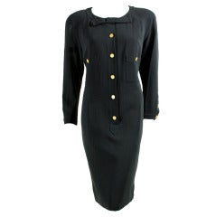 1990's Chanel Dress with Placket & Bow