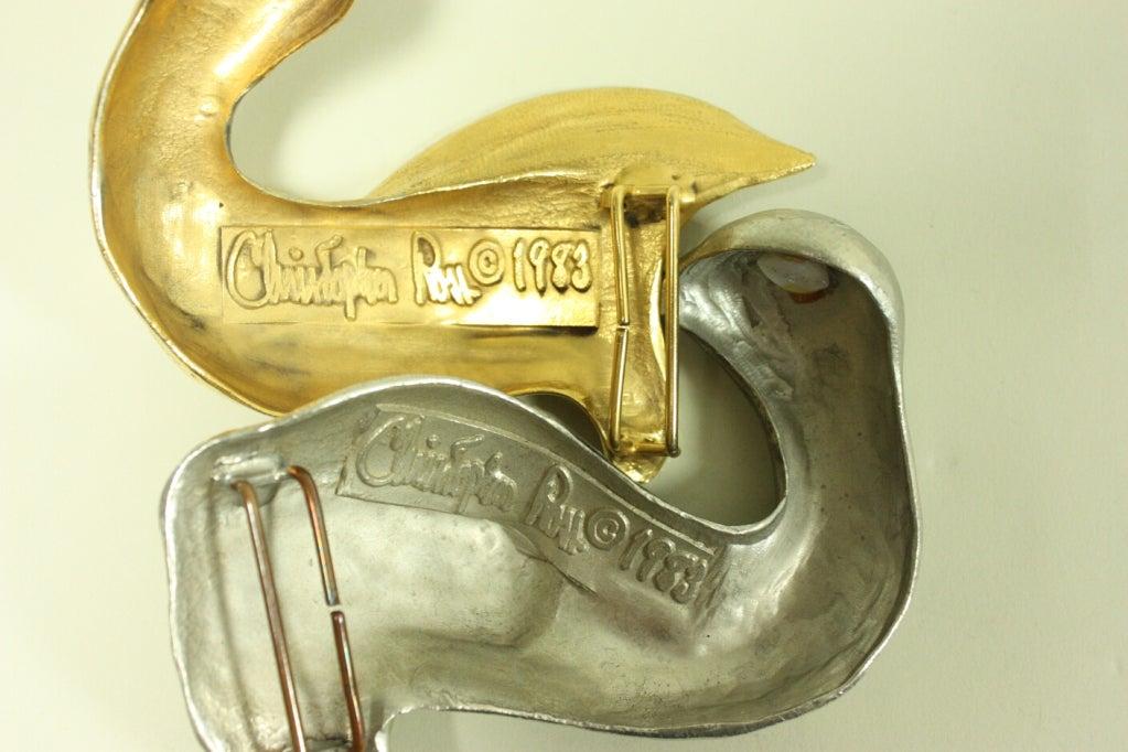 1988 Christopher Ross Belt Buckle For Sale 1