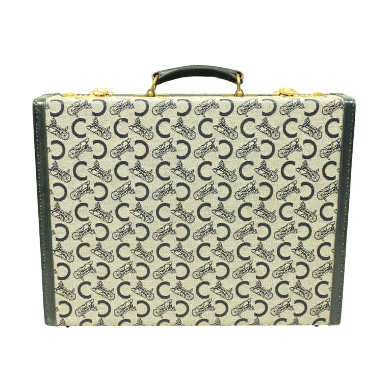 1970's Celine Monogrammed Suitcase For Sale