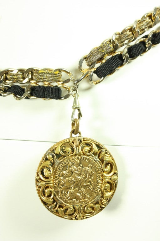 1960's Chanel Chain Belt with Original Box For Sale 1