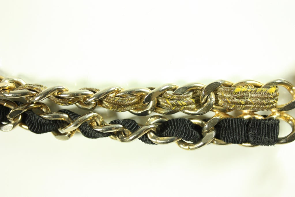 1960's Chanel Chain Belt with Original Box For Sale 2