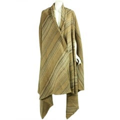 Issey Miyake Striped Wool Cape, Early 1980s