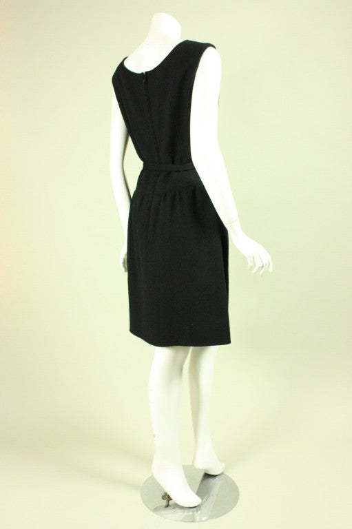Norman Norell Little Black Dress, 1960s  In Excellent Condition For Sale In Los Angeles, CA