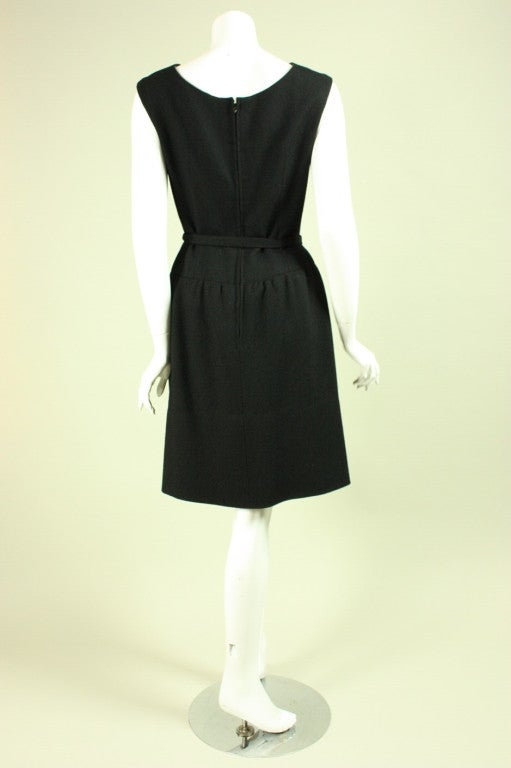 Women's Norman Norell Little Black Dress, 1960s  For Sale