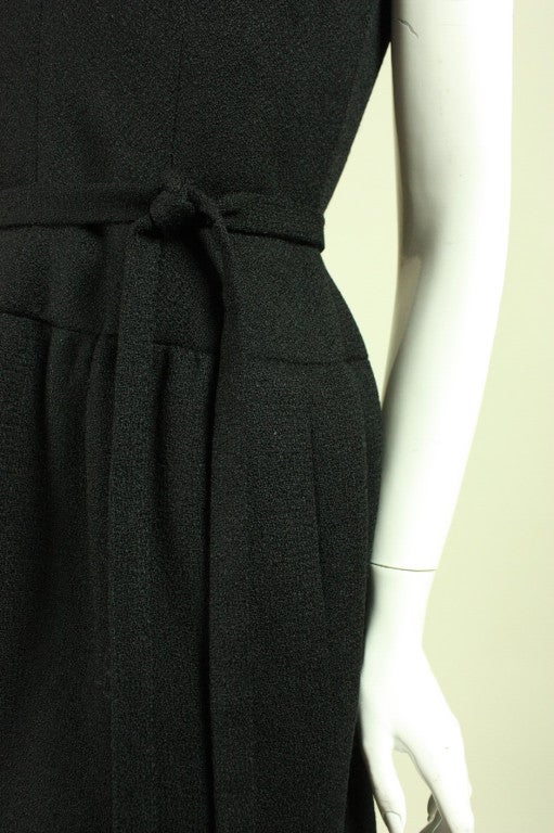 1960's Norman Norell Little Black Dress 6
