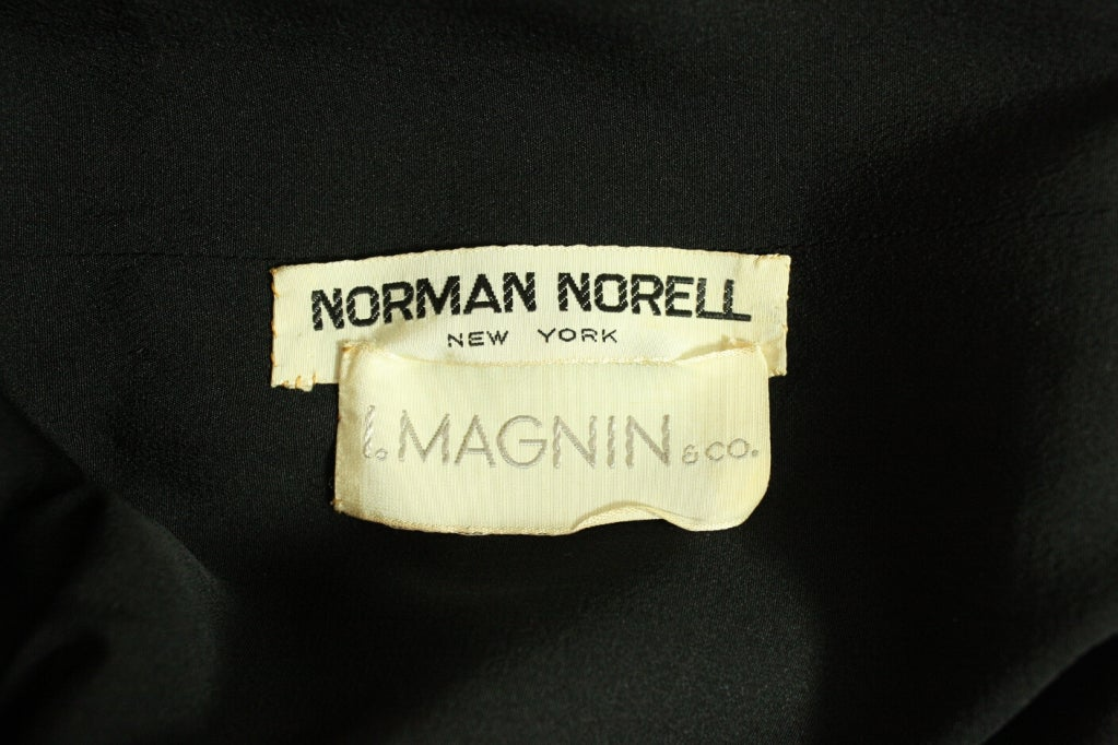 Norman Norell Little Black Dress, 1960s  For Sale 3