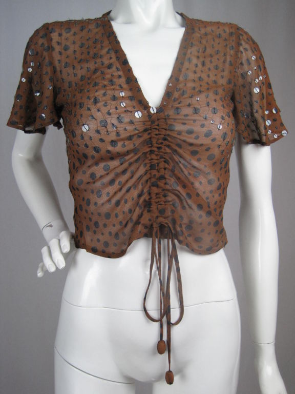 Gaultier Polka-Dotted Evening Blouse 2