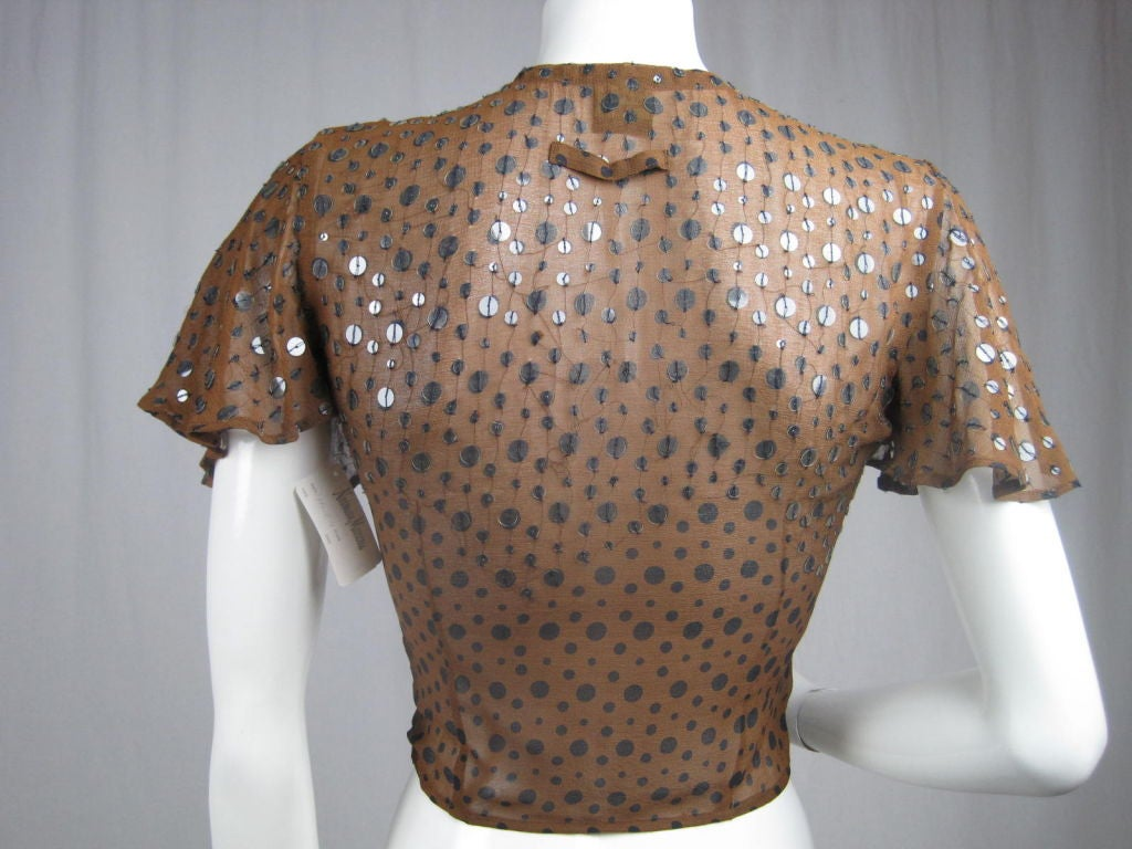 Gaultier Polka-Dotted Evening Blouse 4