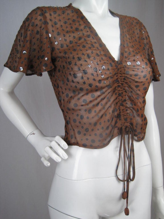 Gaultier Polka-Dotted Evening Blouse 9