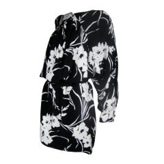 1980's Graphic Floral Dress or Coat