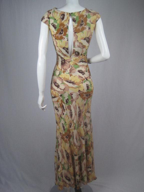 1930's Floral Crepe Dress 3