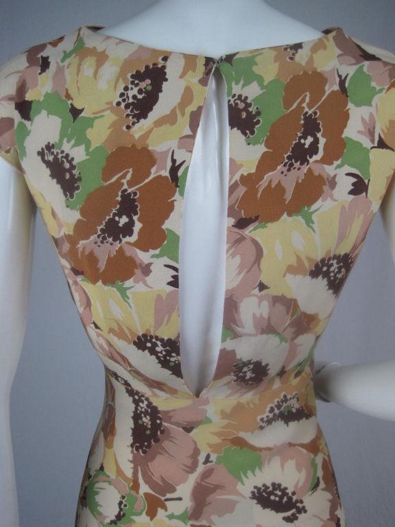 1930's Floral Crepe Dress 4