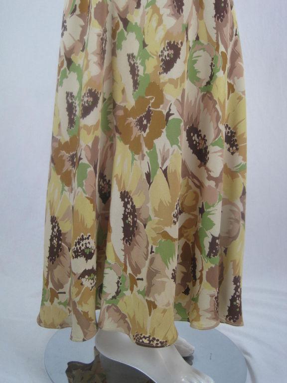1930's Floral Crepe Dress 6
