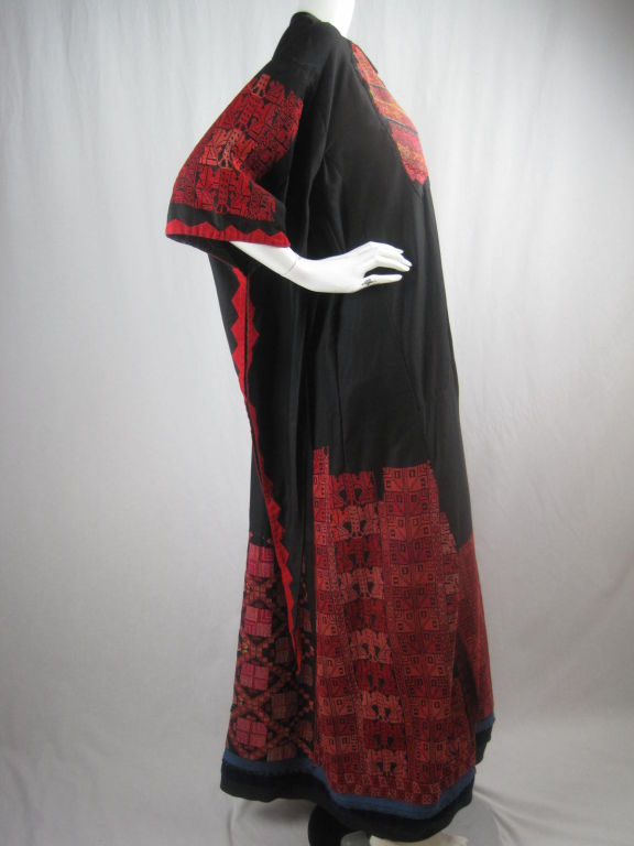 early 20th century antique bedouin embroidered dress sale