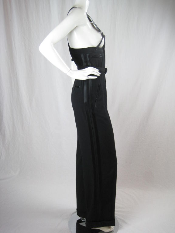 1990 S Gaultier High Waisted Tuxedo Trousers With