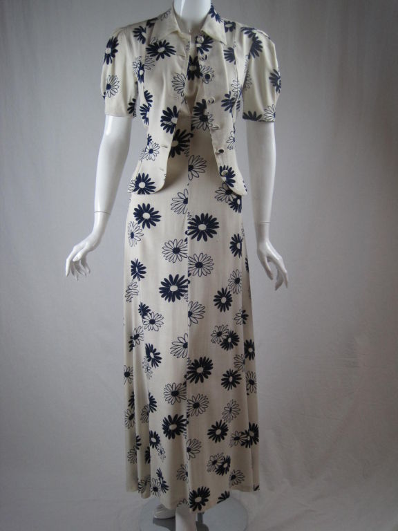1930 S Summer Dress With Matching Jacket At 1stdibs