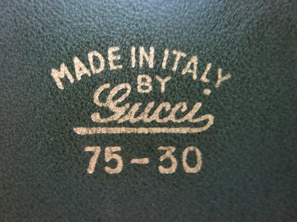 1970's Gucci Green Suede Belt image 3