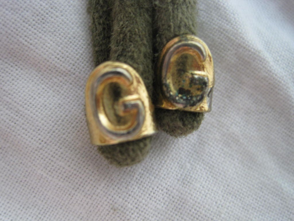 1970's Gucci Green Suede Belt image 4