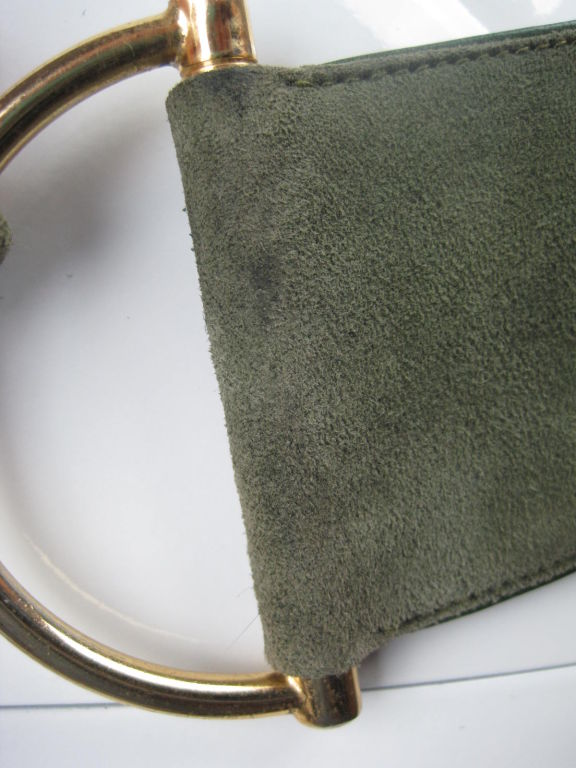 1970's Gucci Green Suede Belt image 5