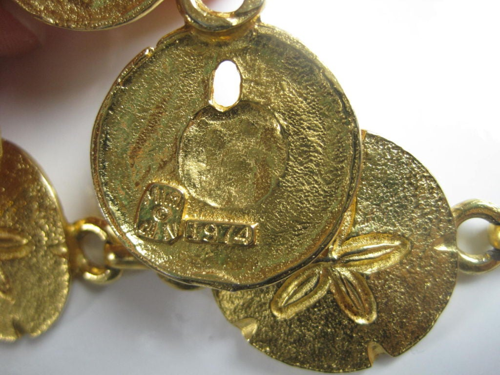 Women's 1970's Mimi Di N Sand Dollar Belt or Necklace For Sale